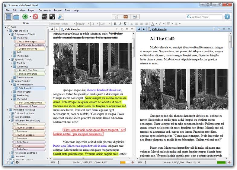 Писательское мастерство Scrivener Программа для писателей | Вдохновить на роман